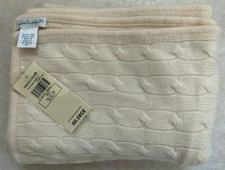 NWT Ralph Lauren Cashmere Baby Blanket – Cream/Beige Color