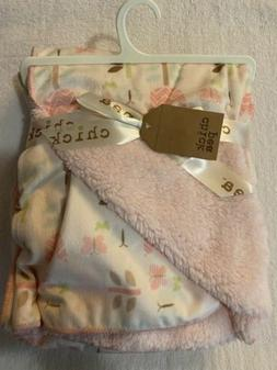 NWT CHICK PEA FLOWERS AND BUTTERFLIES BABY BLANKET