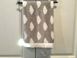 NWT Gymboree Cloud Baby Blanket Plush Security Silver White