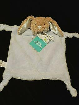 NWT  Dandee  Plush Baby Security Blanket Blue Bunny Rabbit R