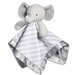NWT Cloud Island Elephant Baby Blanket Gray White Stripe Sec