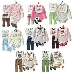 NWT gift set newborn baby girl boy 4pc outfit set PICK