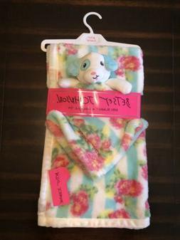 ~NWT Girls BETSEY JOHNSON Flower & Puppy Baby Blanket & Snug