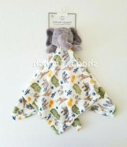 NWT Modern Baby Gray Elephant Security Blanket Jungle Safari