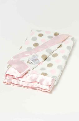NWT Little Giraffe Luxe Polka Dot Baby Blanket Pink Gorgeous