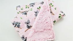 NWT Minky Baby blanket -Pink Koala Outback Australia Girl Nu