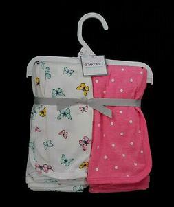 NWT/NEW-Carter's Swaddle Blankets/2-Pack/Pink Polka Dot & Bu