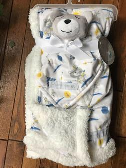 NWT PETITE L'AMOUR BLANKET & LOVEY BEAR INDIAN TEEPEE ARROWS