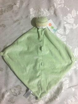 NWT Angel Dear Plush Light Green Frog Security Blanket Lovey