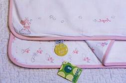 nwt reversible pink angel star baby blanket