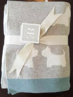NWT Elegant Baby Scotty dog cotton knit blanket 30x40 Ret $4