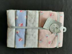 NWT SET OF  BABY GIRL RECEIVING BLANKETS