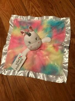 NWT Baby Starters Unicorn Security Blanket Pastels Plush Sat