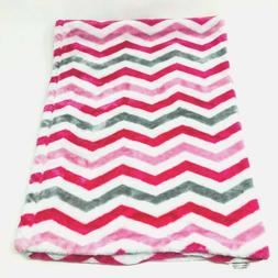 NWT Baby Starters White Pink Gray Grey Chevron Zig Zag Blank