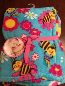 NWTs Boys BEES Northpoint Baby Blanket Soft Plush Fleece Pol