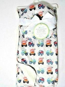 Lollypop Off Road Cars Mink Reverse Sherpa Baby Blanket U-Ne