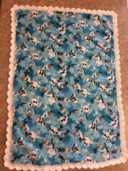 Olaf Disney Frozen Baby-Toddler Soft Fleece Blanket Crochet