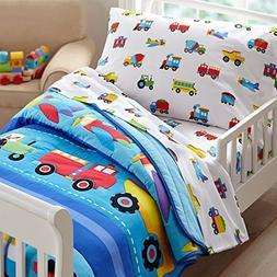 Olive Kids Trains, Planes, Trucks Toddler Bedding Comforter