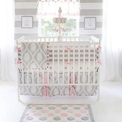 My Baby Sam Olivia Rose Bumper, Pink/Gray