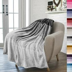 Ombre Gradient Throw Blanket for Sofa Couch Silky Soft Light