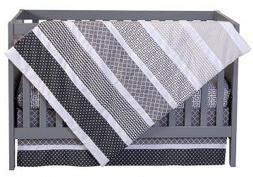 Trend Lab Ombre Gray 6-Piece Nursery Crib Bedding Set