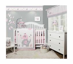 GEENNY OptimaBaby Pink Grey Elephant 6 Piece Baby Girl Nurse