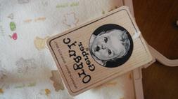 "Gerber  Organic Baby Blanket 30"" X 40"" Ivory & Very Light Gr"