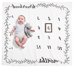 Organic Baby Monthly Milestone Blanket by Pondering Pine | P