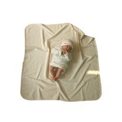 100% Organic Cotton Bear jacquard style Swaddle blanket