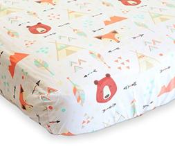 100% Organic Cotton Fitted Crib Sheet by ADDISON BELLE - Pre