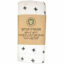 Organic Cotton Modern Burlap Muslin Baby Swaddle Blanket - S