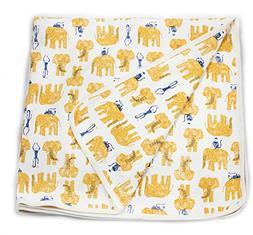 Viverano Organic Cotton Soft Reversible Baby Blanket. Natura