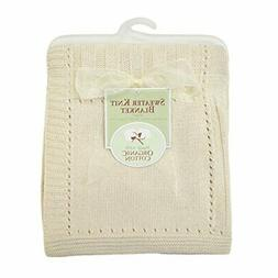 American Baby Company Organic Cotton Sweater Knit Blanket, N