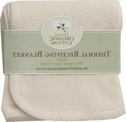 Organic Cotton Thermal Swaddle Infant Baby Blanket by Americ