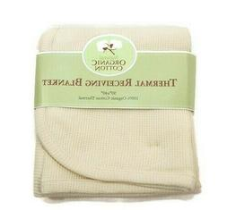 Organic Cotton Thermal Swaddle Infant Baby Blanket American