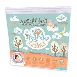 Organic Crib Mattress Cover Pad – Waterproof and Breathabl