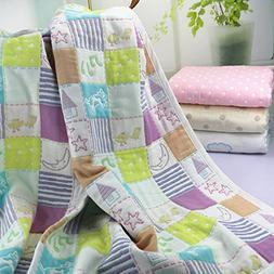 Organic Dream Baby Muslin Swaddle Blanket - Oversized 47in x