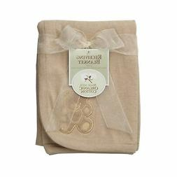 American Baby Company Organic Embroidered Receiving Blanket,