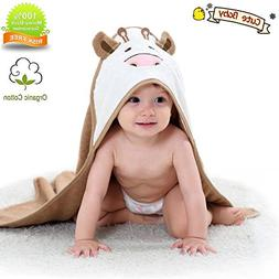 Organic Hooded Baby Towel Bathing Cotton Blanket Washcloth L