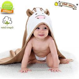 Organic Hooded Baby Towel Bathing Cotton Blanket Washcloth L