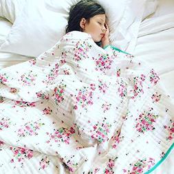 100% Organic Muslin Everything Blanket by ADDISON BELLE - Ov