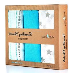 100% Organic Swaddle Blankets | Softest Breathable Bamboo Mu