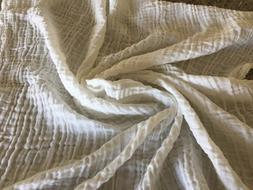 Organic Unbleached Bamboo Cotton 2-Ply Muslin Gauze Swaddle