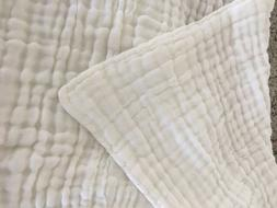 Organic White Dream Blanket Bamboo Cotton 4 Layer Unbleached