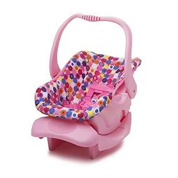 Doll Toy Car Seat Accessories Pretend Play Fits 12 to 20 Inch Dolls Pink Dot