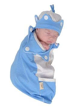 "Cozy Cocoon ""Super Easy Swaddling"" Outfit with Matching Hat"