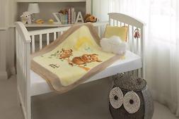 BabyMink Owl Baby/Toddler Blanket Swaddle Super Warm Soft Pl
