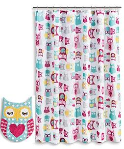 Owl Shower Curtain Bath Rug