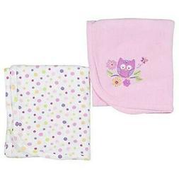 Koala Baby Girls 2 Pack Owl Thermal Blankets