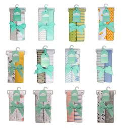 Pack of 2 100% Cotton Flannel Newborn Baby Wraps Receiving B